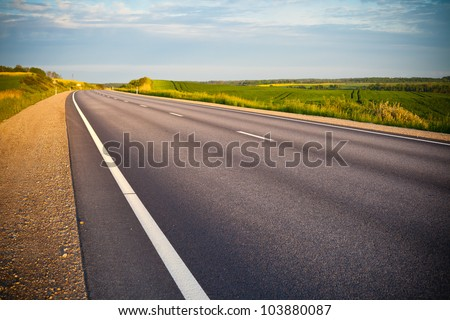 empty asphalt road in countryside