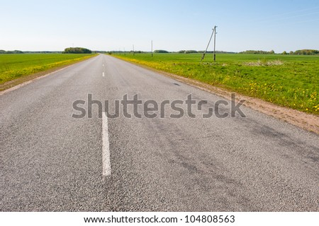 Empty asphalt road in the countryside