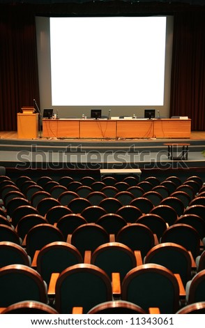 empty auditorium - stock photo