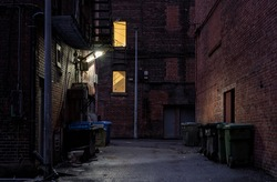 empty back alley at night