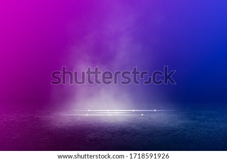 Empty background scene. Texture dark concentrate floor with mist or fog