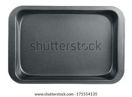 Empty baking tray isolated on white Foto d'archivio ©