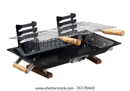 Empty barbecue stove a nice kitchen tool isolated on white