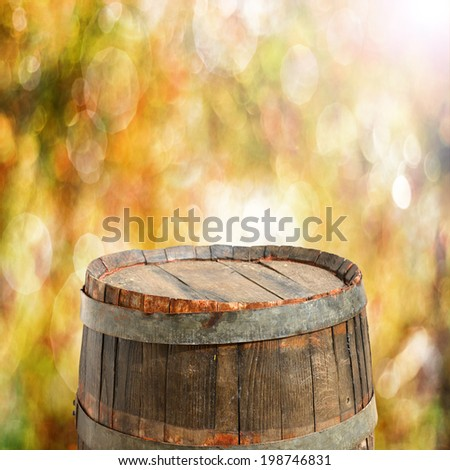 empty barrel for product display montages