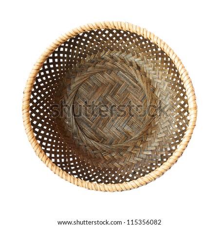 empty basket on a white background
