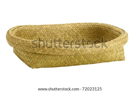 Empty basket to putting bakery fruits vegetables products or other stuffs into it isolated