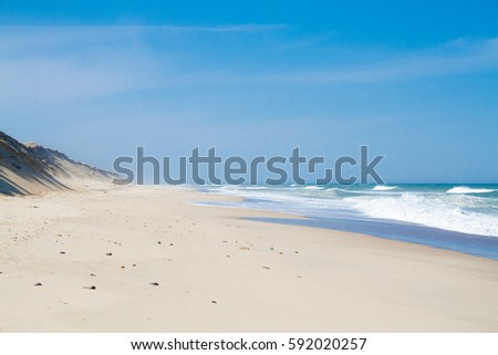 Empty beach #592020257