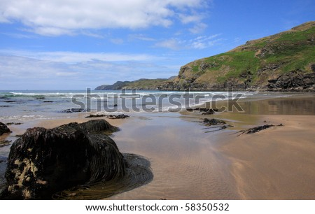 Empty beach in Donegal county, Ireland
