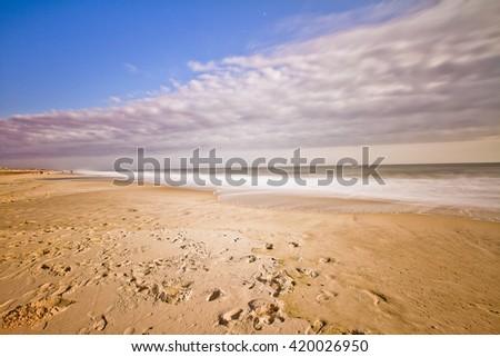 Empty Beach Long Island New York Atlantic Ocean Long Exposure