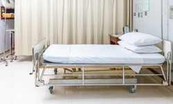 Empty Bed On Hospital Ward