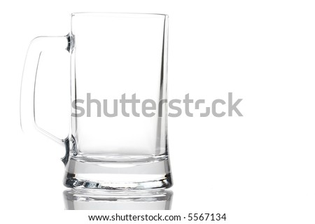 Empty beer glass - stock photo