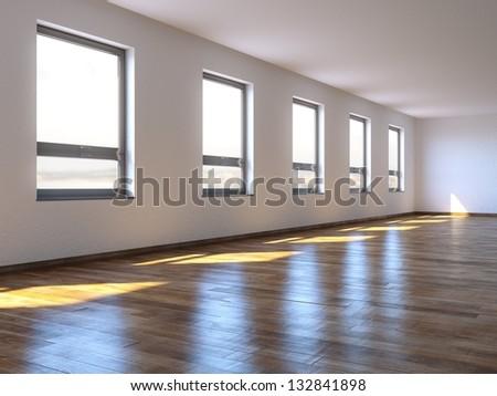 Empty Big Living Room Interior