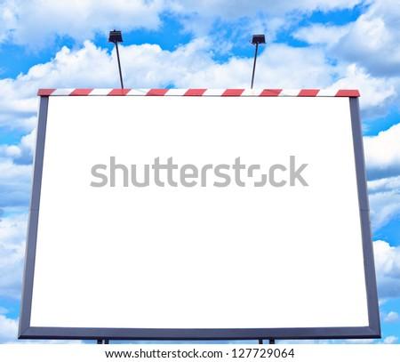 Empty billboard against blue sky
