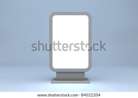 Empty billboard for your ad isolated on blue