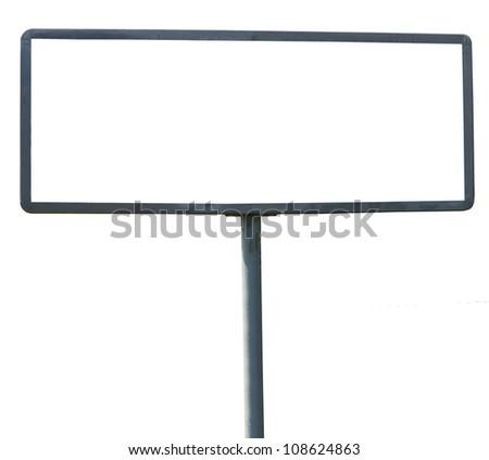 Empty billboard isolated on white background