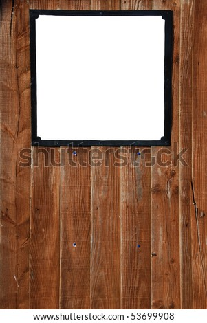 empty billboard on a beautiful wooden fence background - stock photo