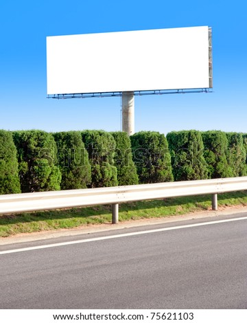 Empty Billboard with the sky