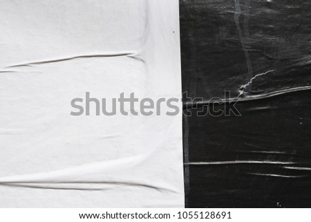 empty black and white street poster texture / space for text / billboard banner template #1055128691