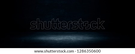 Empty black studio room. Dark background. Abstract dark empty studio room texture.  Product showcase spotlight background. Dark Studio Gallery. 3D Rendering