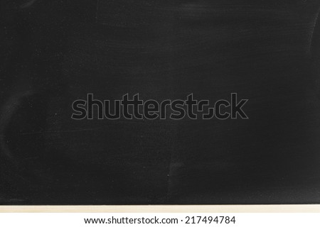 Empty Blackboard./ Empty Blackboard.
