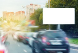 Empty  blank billboard,  poster, mock up, at street, road, for your logo, product, design, presintation, text