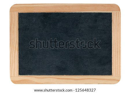 Empty blank blackboard isolated on white background - stock photo