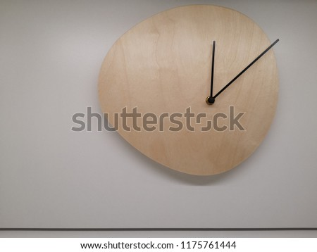 empty blank wooden clock,copy space clock #1175761444