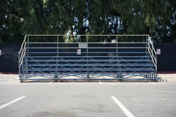 Empty bleachers at sporting even