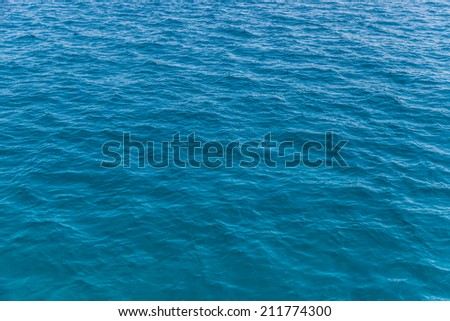 Empty blue sea background shot #211774300