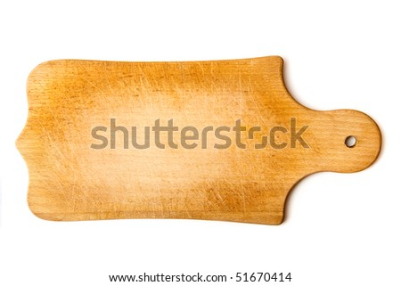 empty board isolated on white