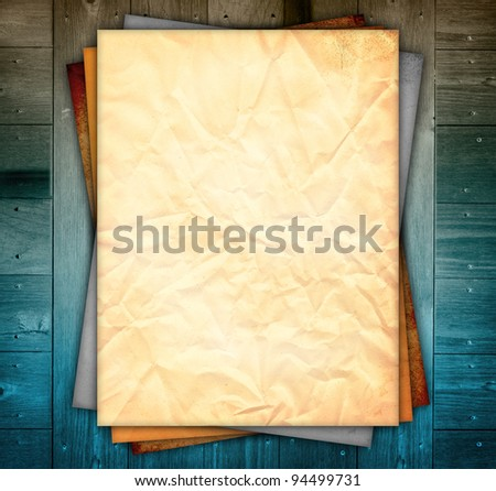 Empty Board on wooden Background