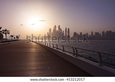 empty boardwalk in the morning...