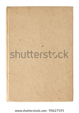 empty book pages isolated on white