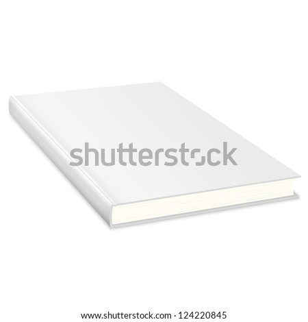 Empty book with white cover. Raster version