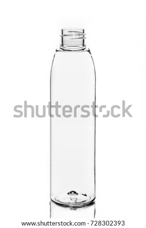 empty bottle cosmetic packaging on a white background #728302393