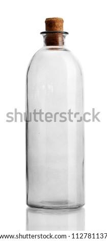 empty bottle, isolated on white