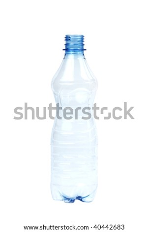 empty bottle of water isolated on white - stock photo