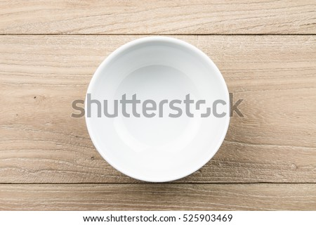 Empty bowl in the wood #525903469