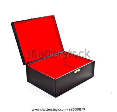 empty box on white background - stock photo