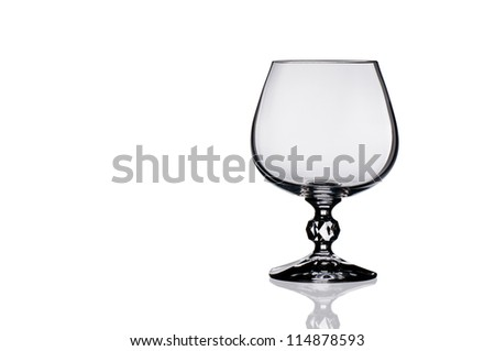 Empty brandy glass. isolated on a white background