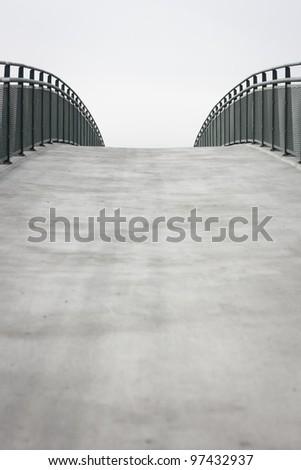 Empty bridge/walkway background with copy space