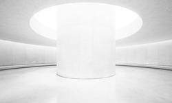 Empty bright concrete interior