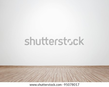 Empty bright interior with copy space