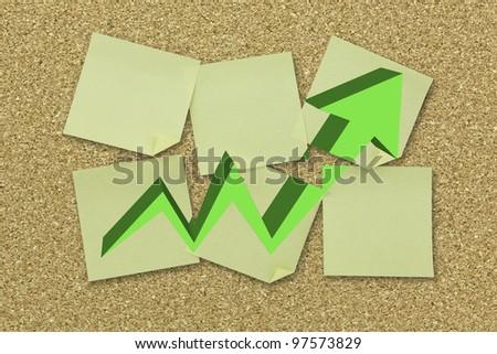 Empty bulletin board, cork board texture - stock photo