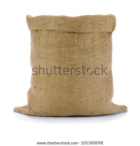 Shutterstock Empty burlap sack isolated on white background