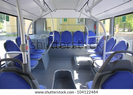 empty bus interior