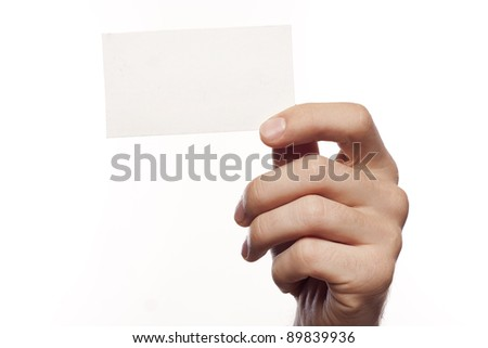 Empty business blank over white background