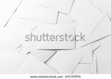 Empty Business Cards