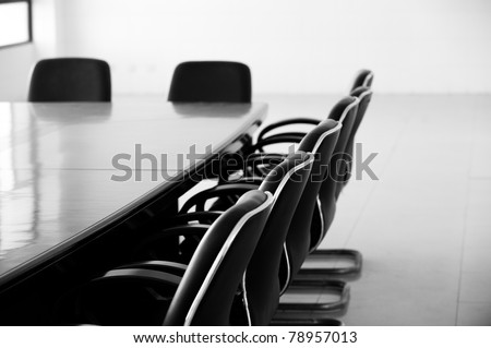 Empty business conference room interior.