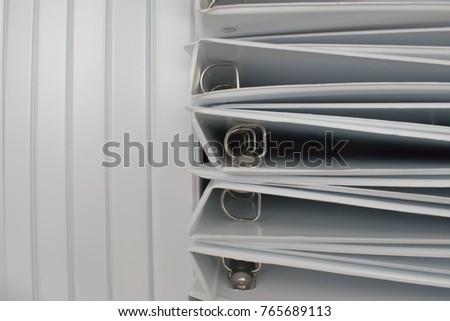 Empty business ring binder